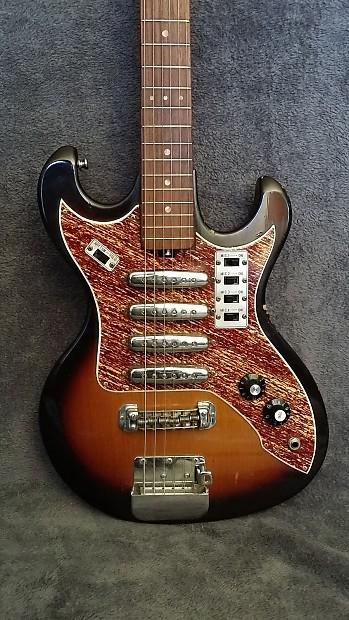 rare teisco kawai 4 pickup electric guitar 60 39 s darkburst reverb. Black Bedroom Furniture Sets. Home Design Ideas