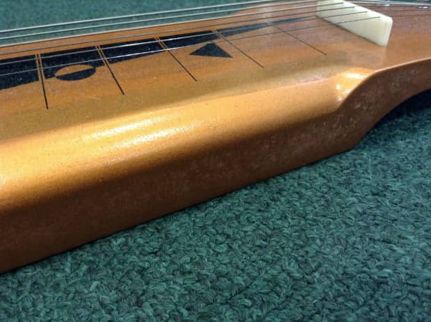 1960 39 s silvertone lap steel in original chip board case for Loft 213 stone wrap