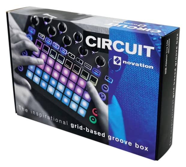 novation circuit groove box music controller pad drum reverb. Black Bedroom Furniture Sets. Home Design Ideas