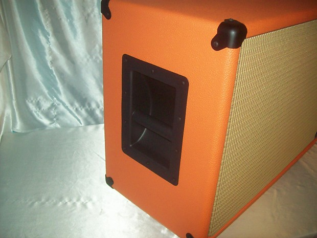 orange 2x12 guitar amp speaker cab cabinet wheat cloth grill reverb. Black Bedroom Furniture Sets. Home Design Ideas