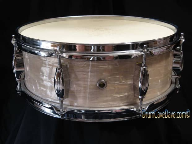 camco oaklawn basge snare drum studio white marine pearl reverb. Black Bedroom Furniture Sets. Home Design Ideas