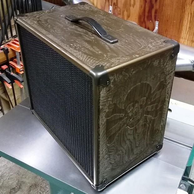 custom carved guitar speaker cabinet 1x12 reverb. Black Bedroom Furniture Sets. Home Design Ideas