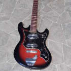 vintage redburst TEISCO Electric guitar surf beat Hertiecaster Mij Japan 1960s image