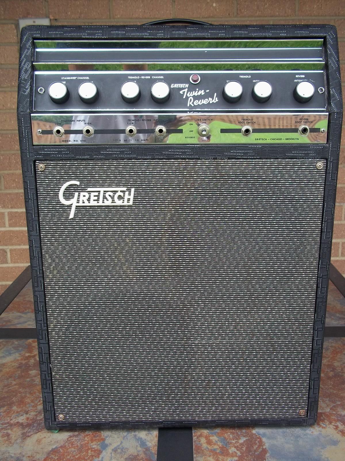 Gretsch Twin Reverb - Model 6162 Black Tolex - 1968 Valco