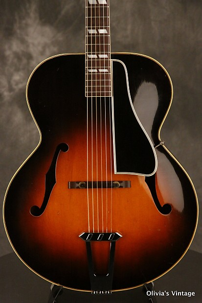original 1951 Gibson L-7 archtop Sunburst w/HIGHLY FLAMED MAPLE BACK ...