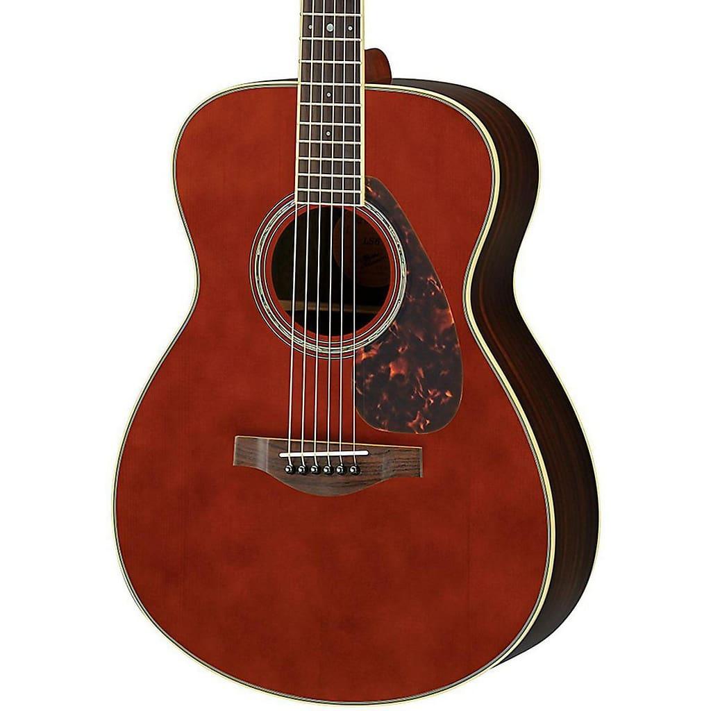 Yamaha ls6r l series rosewood small body acoustic guitar for Yamaha l series guitars