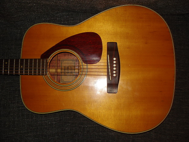 1974 yamaha fg 200 acoustic guitar w grover tuners early reverb. Black Bedroom Furniture Sets. Home Design Ideas