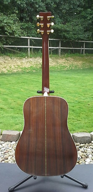 Rare Vintage Yamaha Dw 5s Solid Sitka Spruce Acoustic