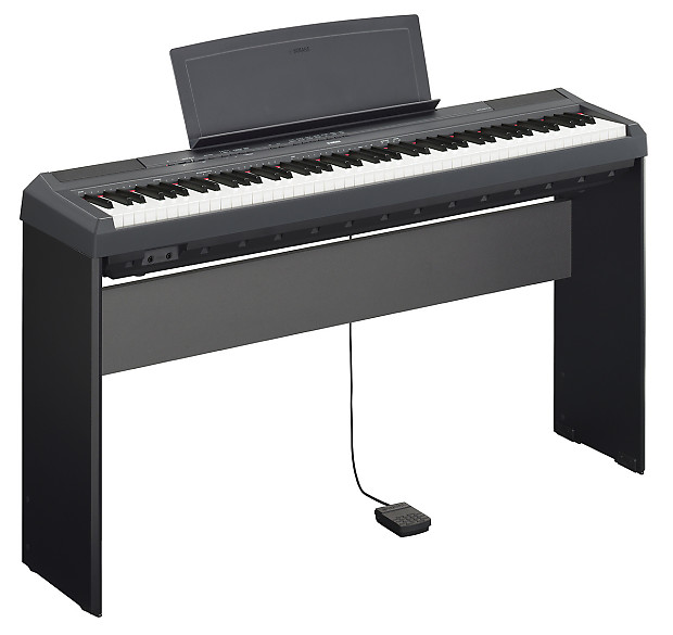 Yamaha p 115 digital piano w l85 stand lp 5a pedal reverb for Yamaha p115 stand