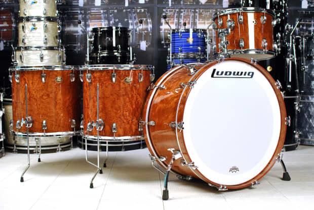 used ludwig classic maple 4pc bonham drum set african bubinga reverb. Black Bedroom Furniture Sets. Home Design Ideas