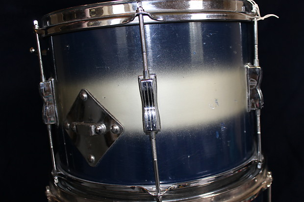 Ludwig Club Date Duco 1950s Blue Silver Lacquer 3 Piece