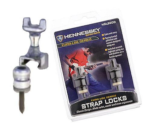 Guitar Parts Hennessey Straplocks Locking Button Strap