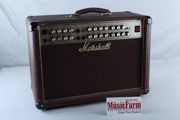 marshall acoustic guitar amp as80r 80 watt microphone and reverb. Black Bedroom Furniture Sets. Home Design Ideas