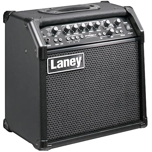 laney prism 20 modelling amp black special price and free reverb. Black Bedroom Furniture Sets. Home Design Ideas