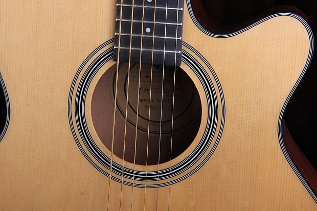 fretlight fg 507 interactive acoustic guitar with hard shell reverb. Black Bedroom Furniture Sets. Home Design Ideas