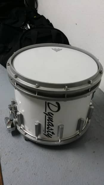 dynasty marching snare 12 x14 white wrap reverb. Black Bedroom Furniture Sets. Home Design Ideas