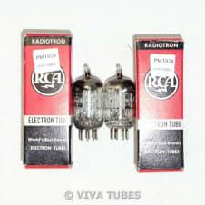 NOS NIB Date Matched Pair RCA USA 12AL5 Black/Silver Plate [] Get Vacuum Tubes image