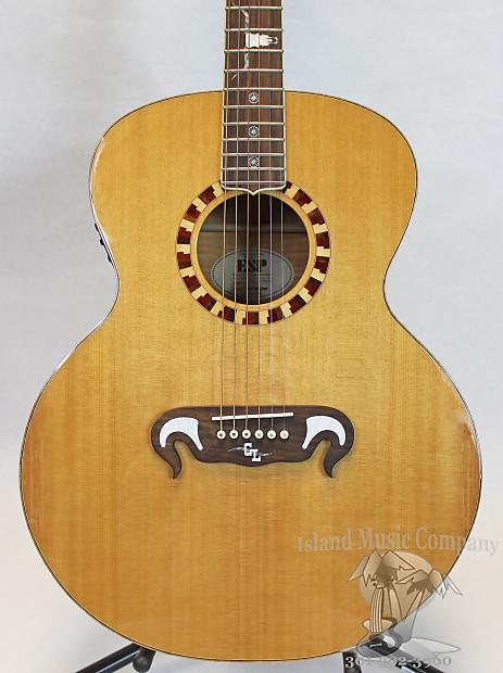 esp guitars george lynch gl j1es acoustic guitar natural reverb. Black Bedroom Furniture Sets. Home Design Ideas