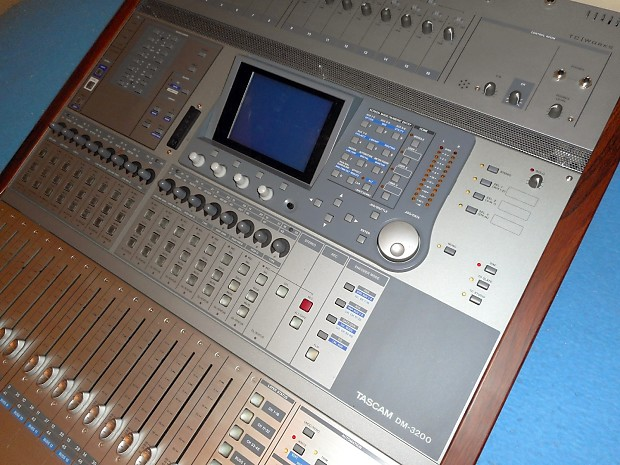 tascam dm 3200 digial mixing console with manual reverb. Black Bedroom Furniture Sets. Home Design Ideas