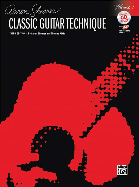 Classic Book Cover Guitar : Classic guitar technique vol book cd aaron shearer