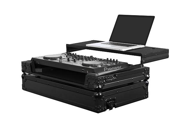 odyssey ffxgspiddjsxbl all black flight case for pioneer reverb. Black Bedroom Furniture Sets. Home Design Ideas