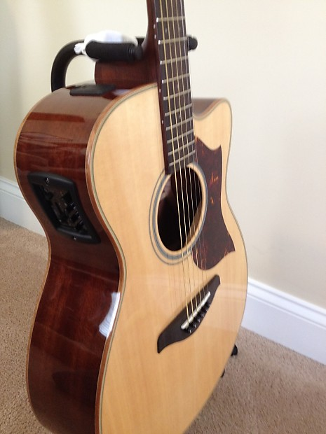 Yamaha ac1m acoustic electric guitar solid sitka spruce for Yamaha solid top