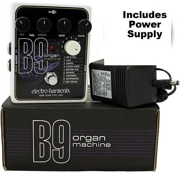 electro harmonix b9 organ machine electric guitar pedal with reverb. Black Bedroom Furniture Sets. Home Design Ideas