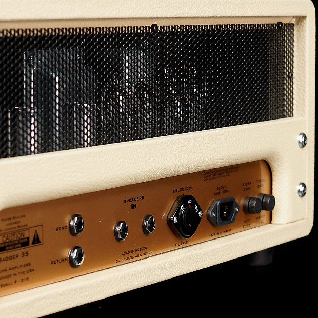 Suhr Badger 35 All Tube Amplifier 35w Creme Reverb