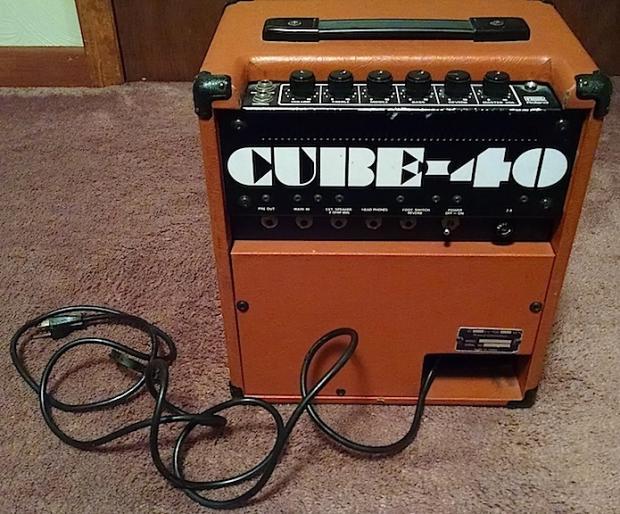roland cube 40 guitar bass or keys combo amp 1970s 80s burnt orange reverb. Black Bedroom Furniture Sets. Home Design Ideas