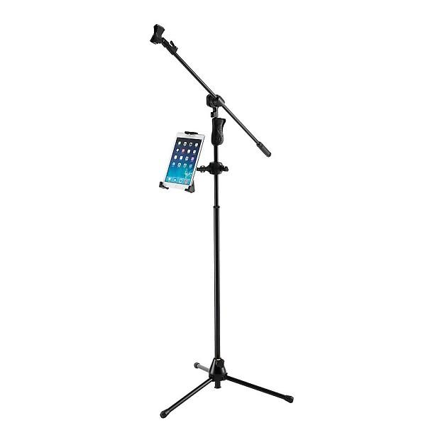 Hercules dg305b 3 way adjustable tablet device desktop mic reverb - Hercules tablet stand ...