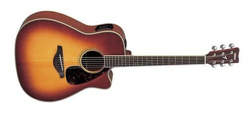Yamaha fgx720sca bs acoustic electric guitar brown for Yamaha fgx720sca price