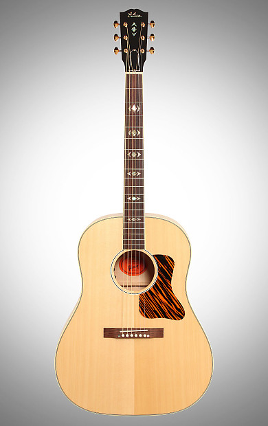 gibson advanced jumbo flame deluxe acoustic guitar with reverb. Black Bedroom Furniture Sets. Home Design Ideas