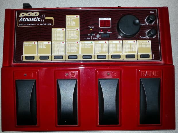 dod acoustic 1 guitar multi effects pedal reverb. Black Bedroom Furniture Sets. Home Design Ideas