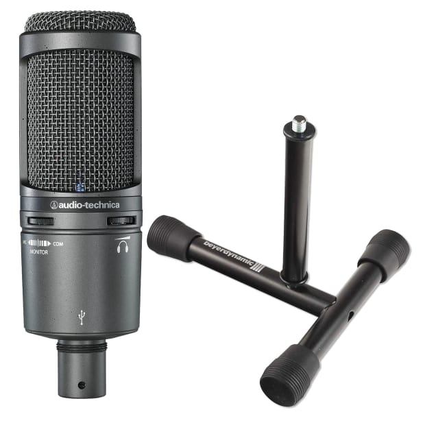 audio technica at2020 usb podcast mic with free tabletop reverb. Black Bedroom Furniture Sets. Home Design Ideas
