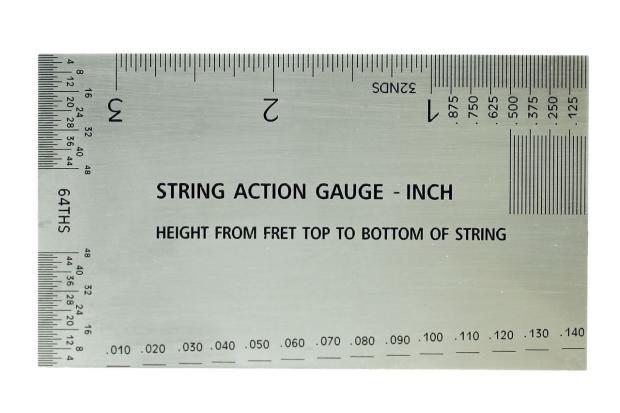 string action gauge inch ruler guitar setup tool reverb. Black Bedroom Furniture Sets. Home Design Ideas