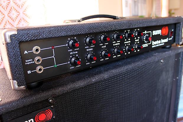 sunn beta lead amplifier head vintage electric guitar bass reverb. Black Bedroom Furniture Sets. Home Design Ideas