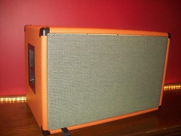 Orange 2x12 Guitar Amp Speaker Cab Cabinet Wheat Grill