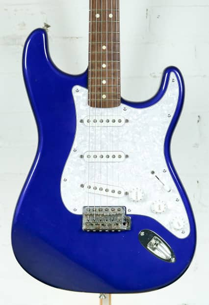 used fender mexican stratocaster electric guitar blue reverb. Black Bedroom Furniture Sets. Home Design Ideas