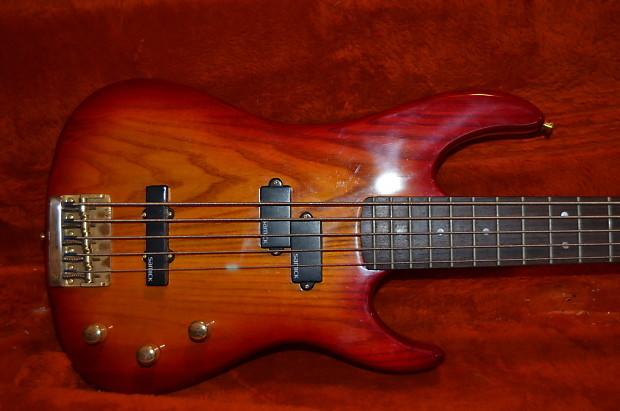 samick valley arts 5 string passive bass guitar cherry burst reverb. Black Bedroom Furniture Sets. Home Design Ideas