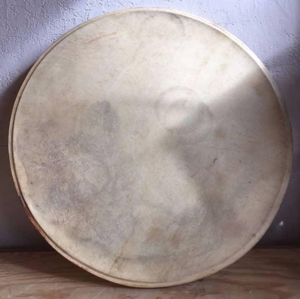 vintage 26 calf skin bass drum head reverb
