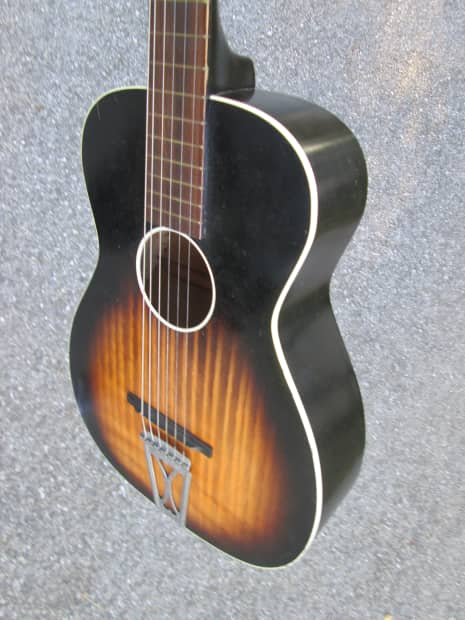 vintage 1956 stella harmony parlor usa guitar very clean reverb. Black Bedroom Furniture Sets. Home Design Ideas