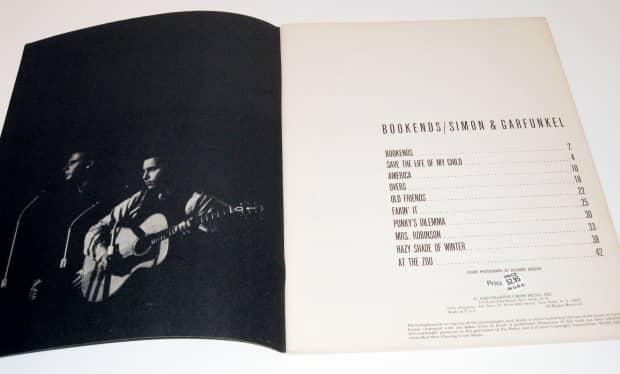 Simon garfunkel bookends vintage 1968 song book sheet reverb - Piano bookends ...