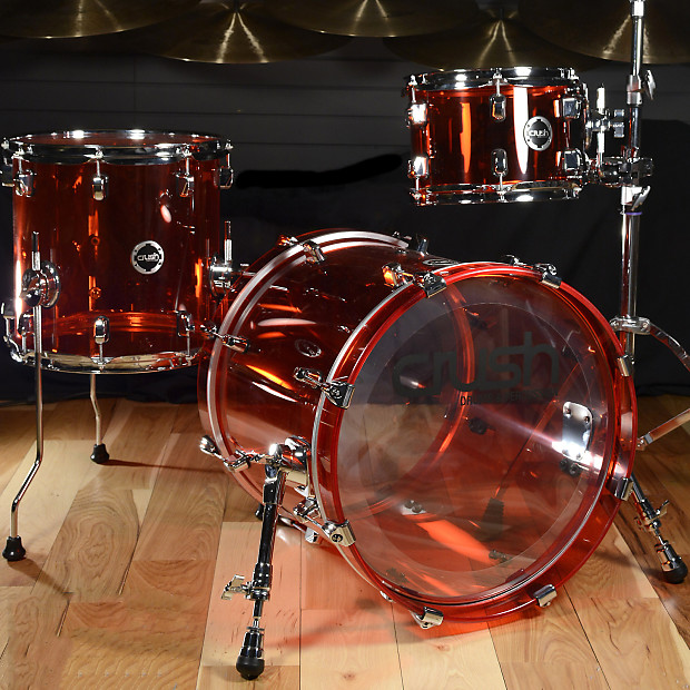 crush acrylic 10 13 18 3pc bop drum kit red reverb. Black Bedroom Furniture Sets. Home Design Ideas