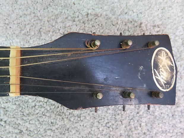 vintage 1950s kay sunbust acoustic guitar project needs reverb. Black Bedroom Furniture Sets. Home Design Ideas