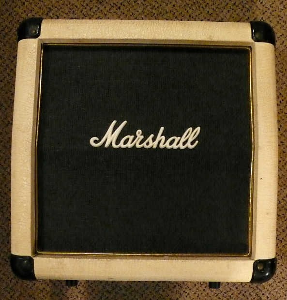 marshall 1x10 electric guitar micro speaker cabinet white reverb. Black Bedroom Furniture Sets. Home Design Ideas