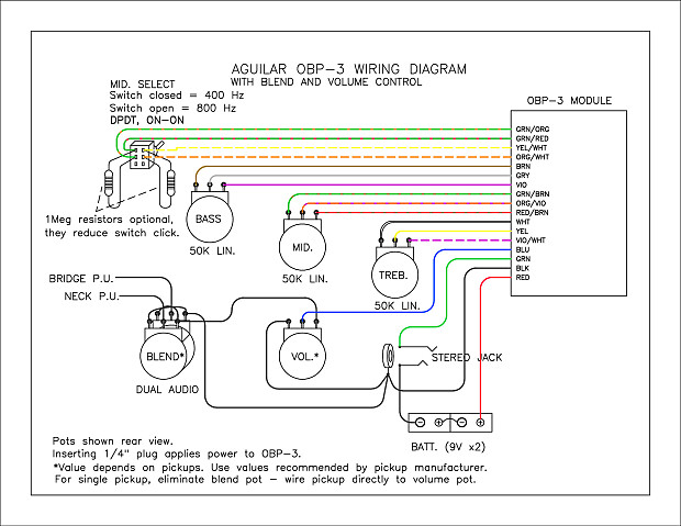 obp wiring diagram obp wiring diagrams collections aguilar obp 3 3 band stacked boost cut on board b preamp