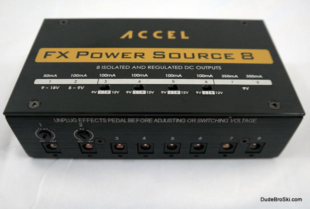 accel power source 8 isolated regulated power supply for eight pedals reverb. Black Bedroom Furniture Sets. Home Design Ideas