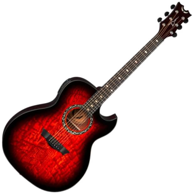 Dean Exhibition Acoustic Electric With Aphex Guitar Tiger