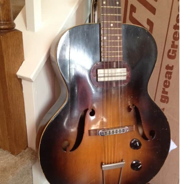 silvertone archtop s1322 harmony h51 w rare gibson p13 reverb. Black Bedroom Furniture Sets. Home Design Ideas