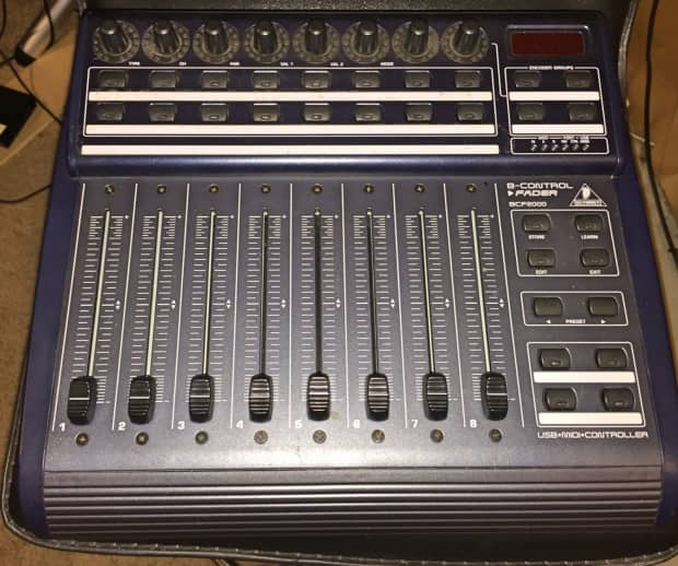 behringer bcf2000 usb midi mixer with motorized faders